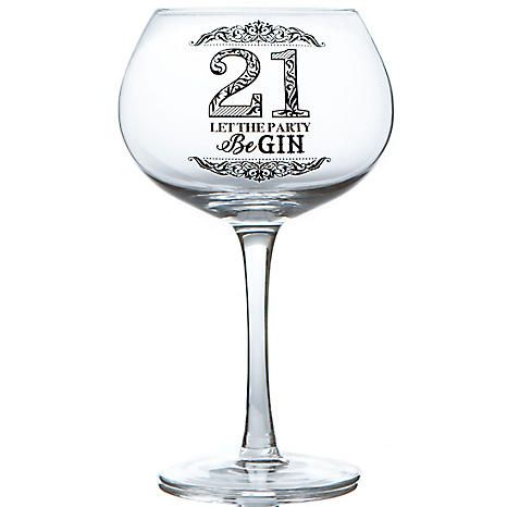 21 Let The Party Be Gin Birthday Gin Glass