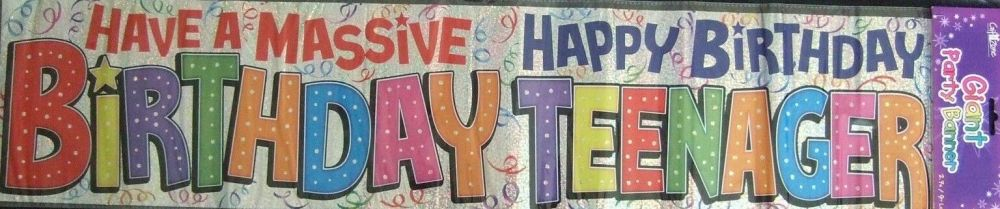 Happy Birthday Teenager Giant Banner