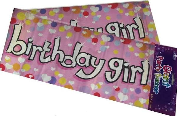 Giant Happy Birthday Birthday Girl Banner