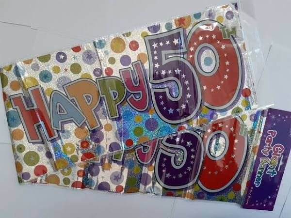 Giant Happy Birthday 50th Banner