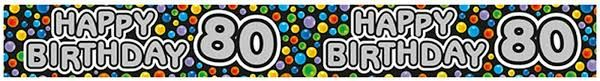 Happy Birthday 80th Party Banner