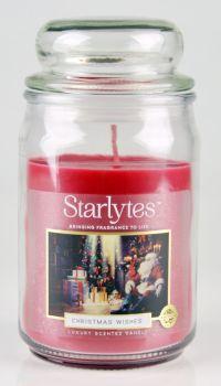 Starlytes Large Jar Candle (454g) Christmas Wishes