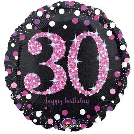 30th Foil Balloon Pink