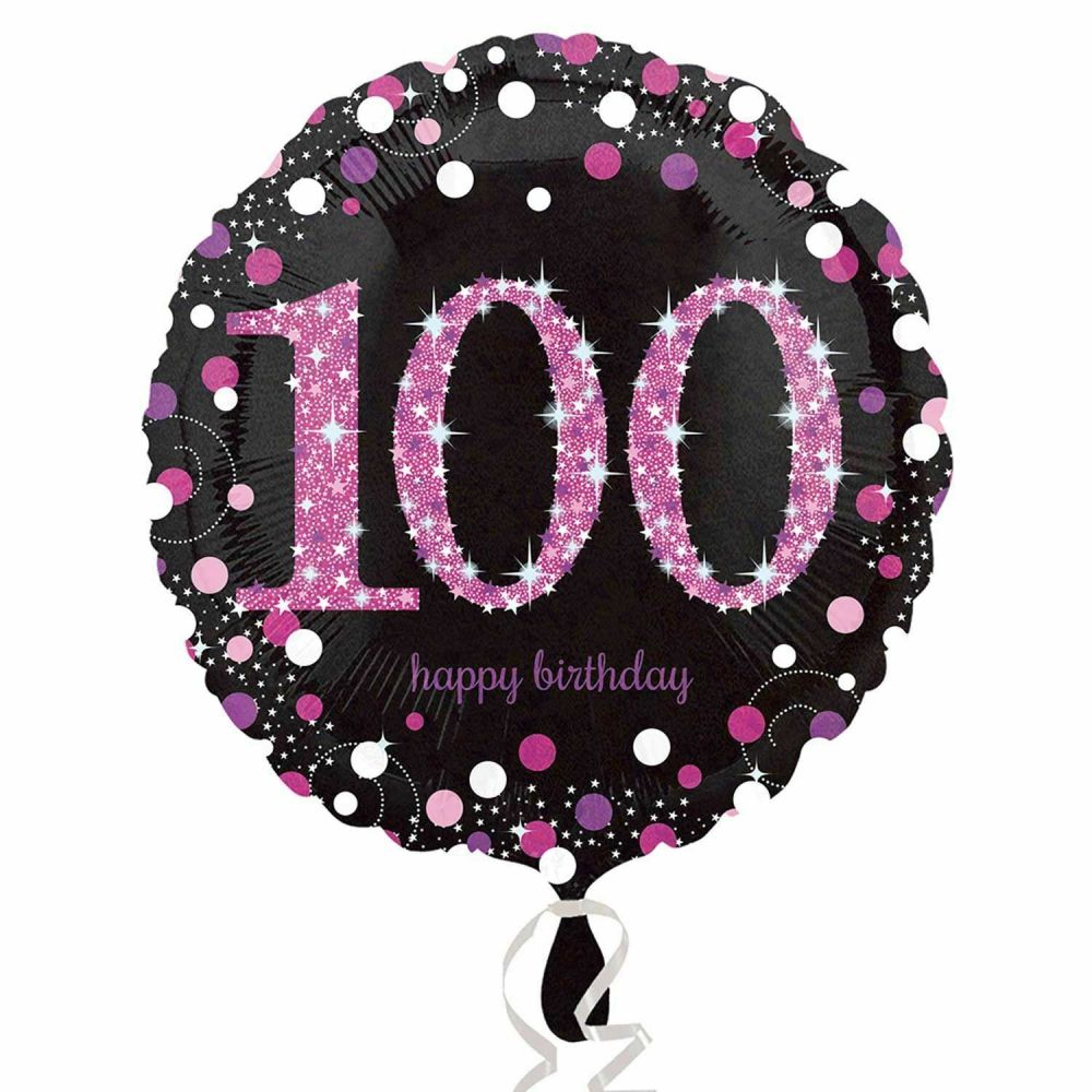 100 Foil Balloon Pink