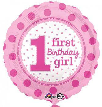 1st Foil Balloon Pink