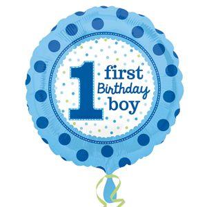 1st Foil Balloon Blue