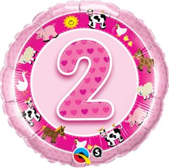 2 Foil Balloon Pink