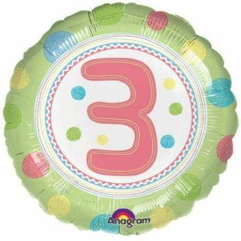3 Foil Balloon Green