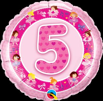 5 Foil Balloon Pink
