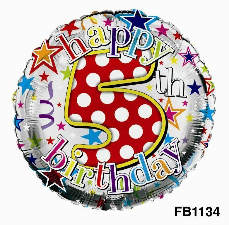 5 Foil Balloon Multi