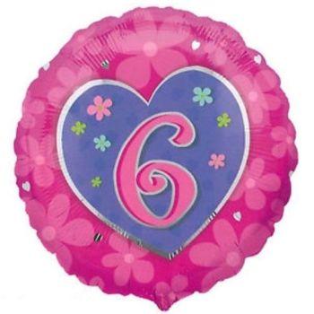 6 Foil Balloon Pink