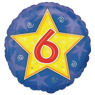 6 Foil Balloon Blue