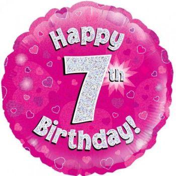7 Foil Balloon Pink