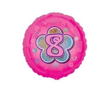 8 Foil Balloon Pink