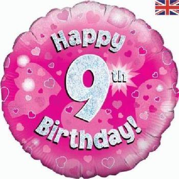 9 Foil Balloon Pink
