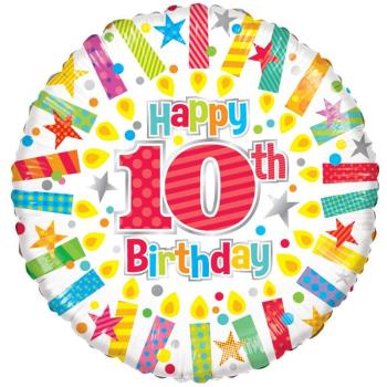 10th Foil Balloon Multi