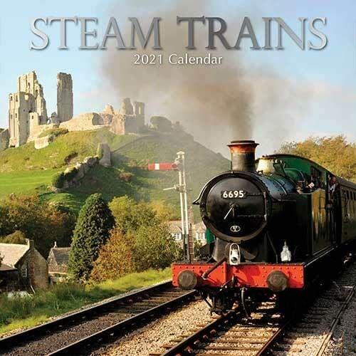 Steam Trains 2021 - 16 Month Square Wall Calendar