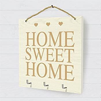 Home Sweet Home Hanging Plaque White