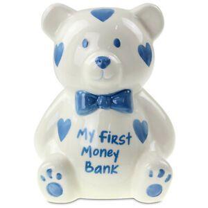 My First Money Box Blue Teddy
