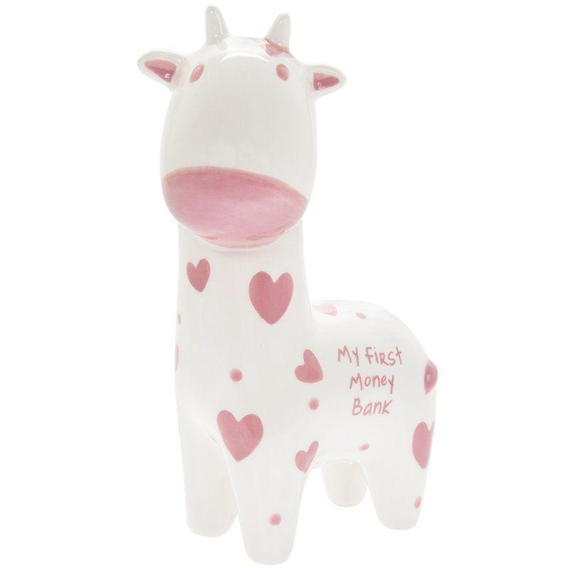 My First Money Bank Pink Giraffe