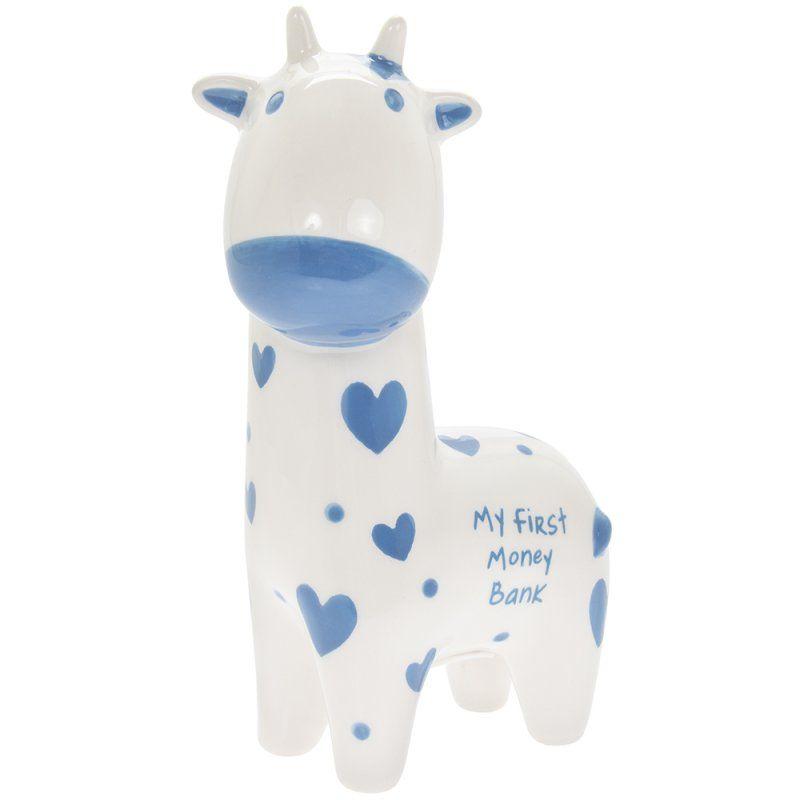 My First Money Bank Blue Giraffe
