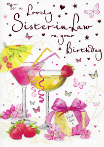 To A Lovely Sister-In-Law On Your Birthday - Card