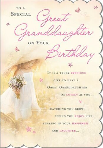 To A Special Great Granddaughter On Your Birthday