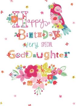 Happy Birthday Very Special Goddaughter Birthday Card