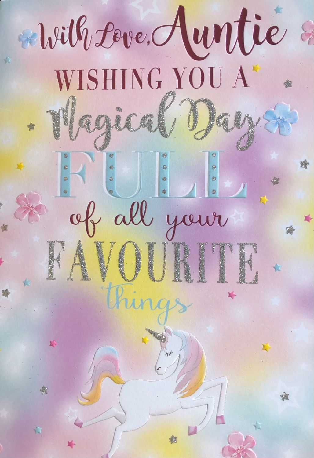 With Love, Auntie Wishing You A Magical Day Full Of All Your Favourite Thin