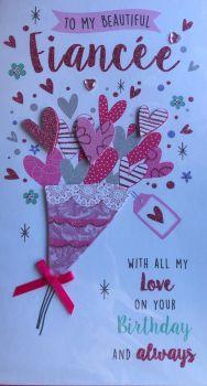 To My Beautiful Fiancée Birthday Card