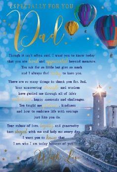 Especially For You Dad - Birthday Card