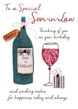 To A Special Son-In-Law Thinking Of You On Your Birthday - Card