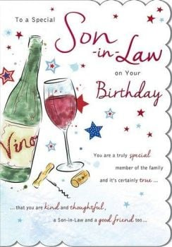 To A Special Son-in-Law On Your Birthday - Card