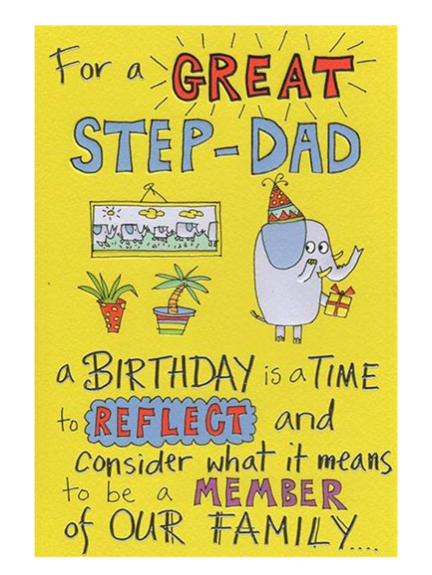 For A Great Step Dad Humour Birthday