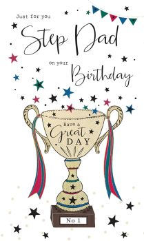 Just For You Step Dad On Your Birthday - Card