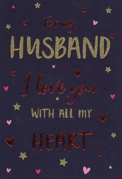 For My Husband I Love You With All My Heart