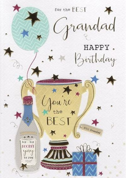 For The Best Grandad Happy Birthday