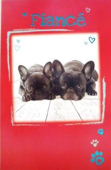 Fiancé French Bulldog - Birthday Card