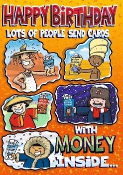 Lots Of People Send Cards With Money Inside... - Card