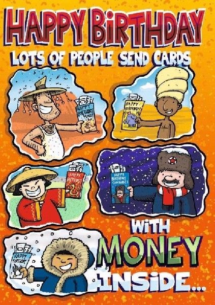 Lots Of People Send Cards With Money Inside...