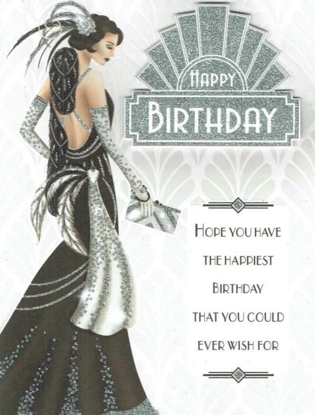 Happy Birthday - Art Deco