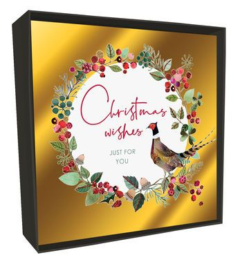 Luxury Happy Christmas Boxed Cards (6) - Pheasant
