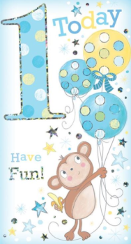 1 Today Have Fun! - Monkey - Card