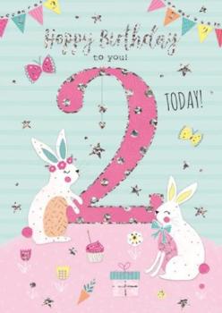 2 Today Happy Birthday to You! - Rabbits - Card