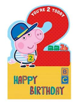 2 Today Happy Birthday - George Peppa Pig - Card