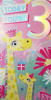 3 Today - Giraffe - Card