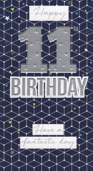 Happy 11th Birthday - Blue