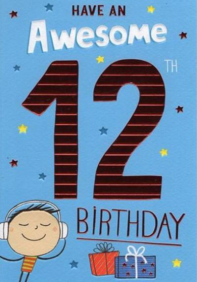 12th Birthday - Boys