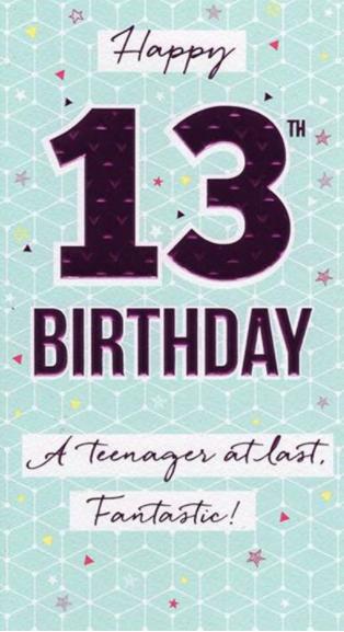 Happy 13th Birthday - Pink