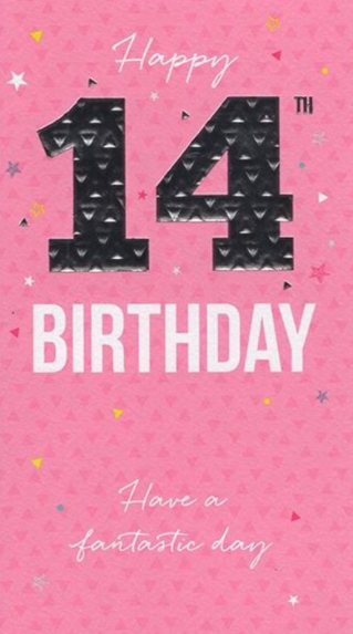 Happy 14th Birthday - Pink